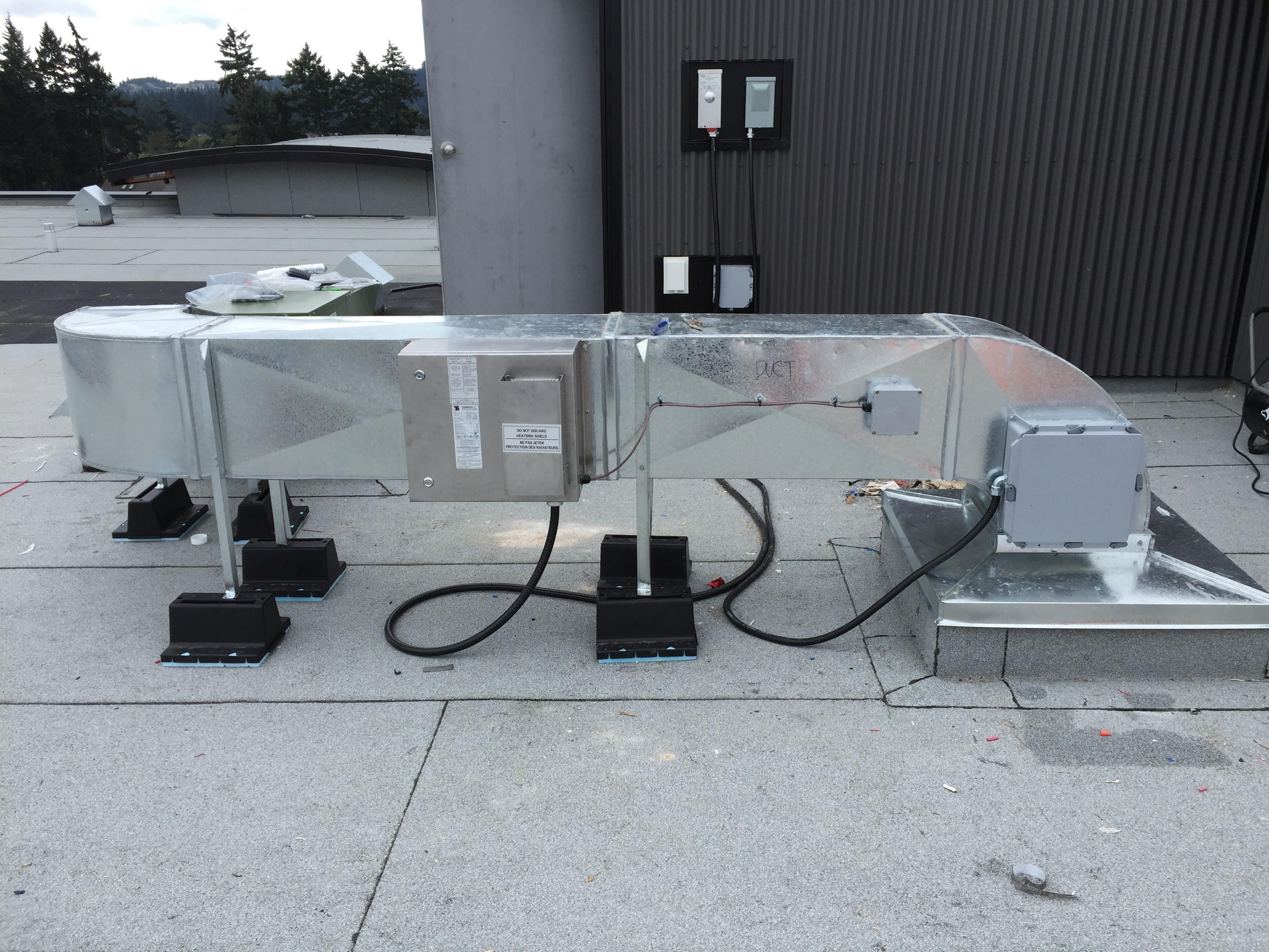 Condo hall pressurization systems