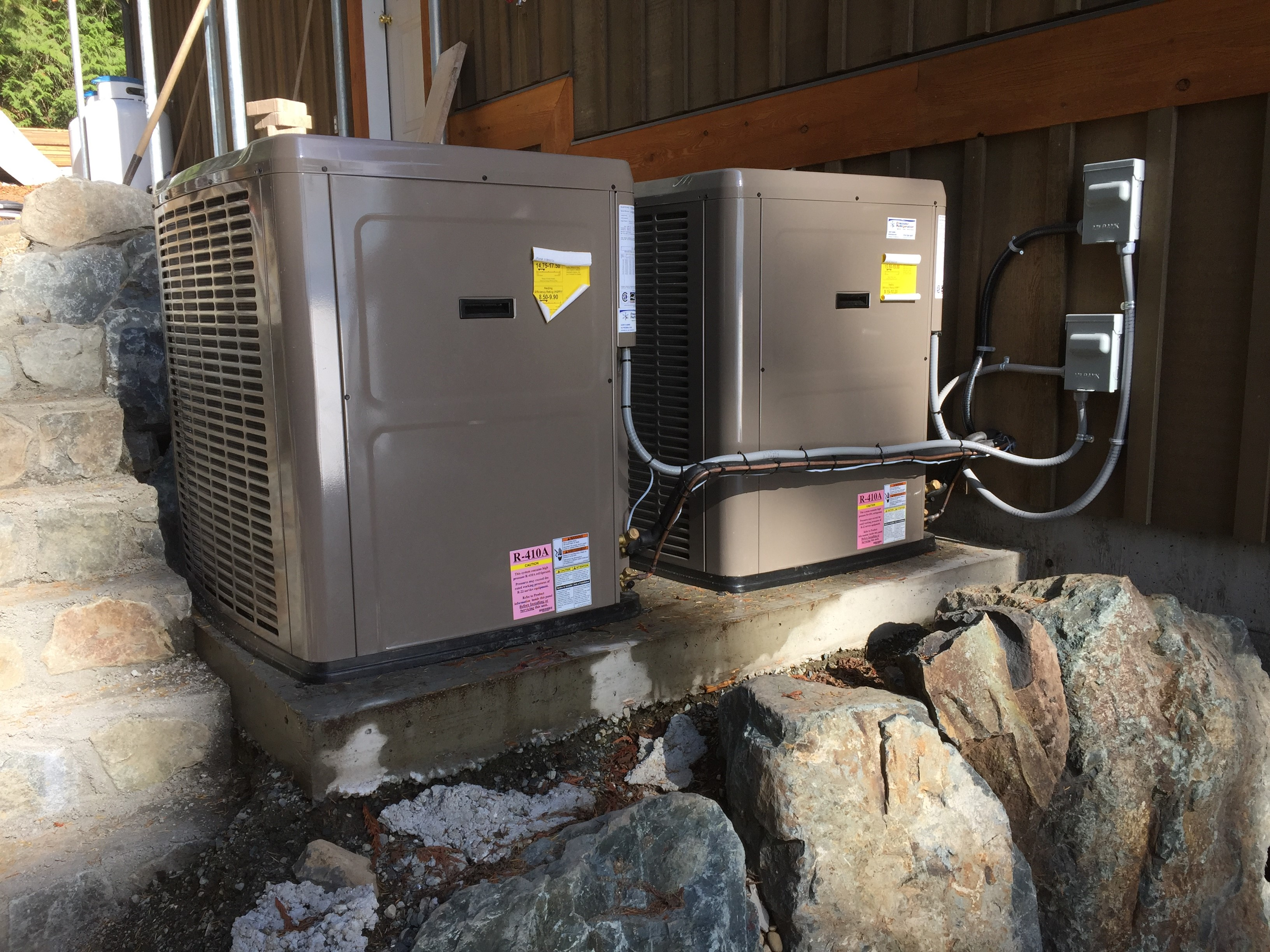 Residential heat pump systems and ducting